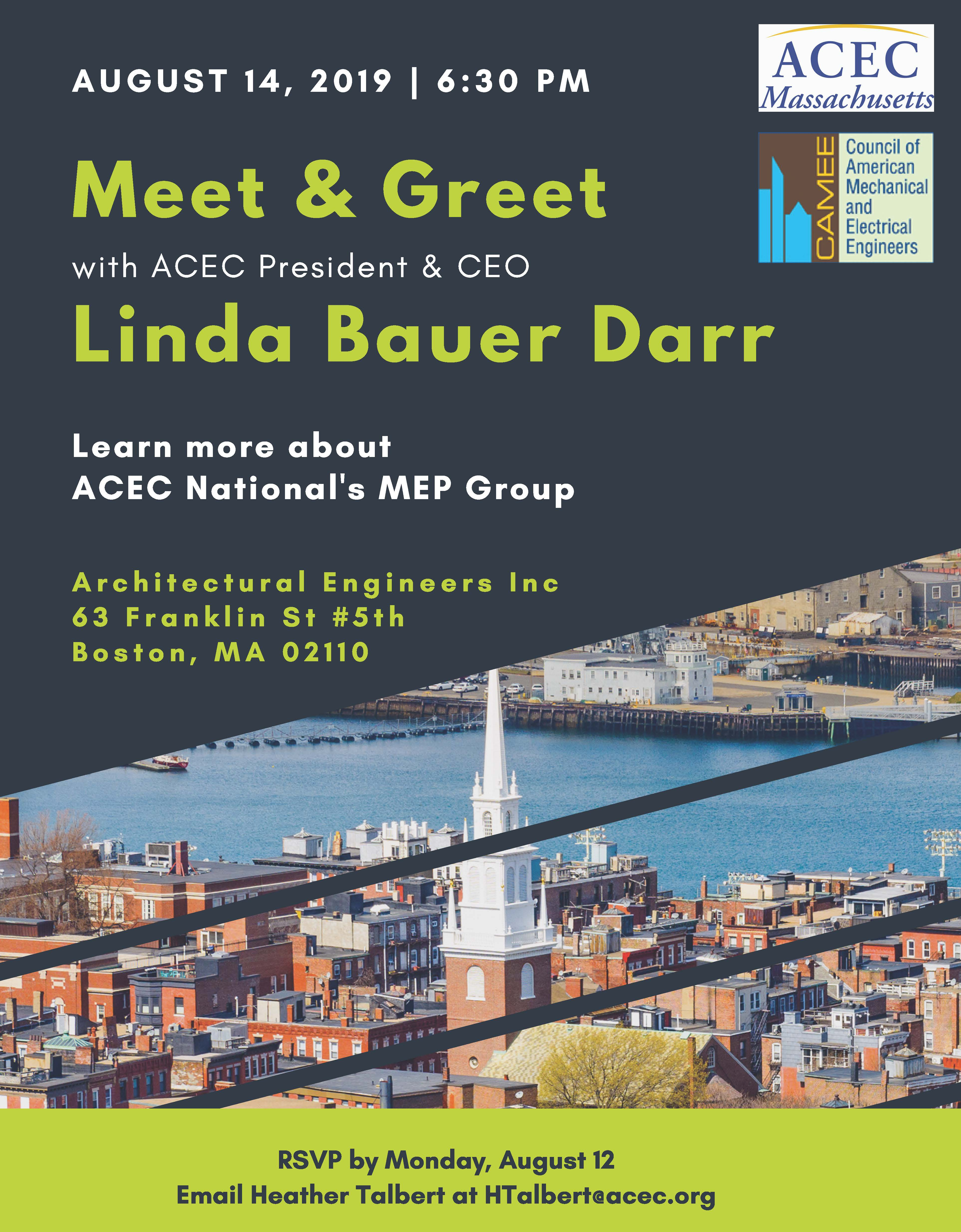 ACEC National Meet & Greet with Linda Bauer Darr - American Council