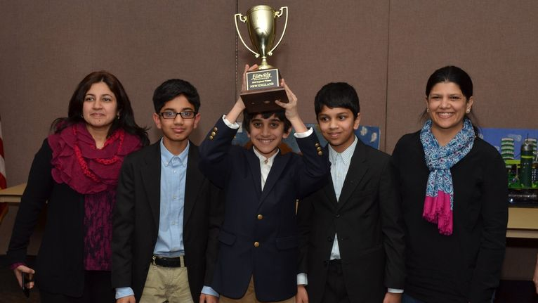 Congratulations to the 2016 Future City New England Regional Champions: The Farmington Valley American Muslim Center -  Team Members: Daniyal Athar, Ehsan Ahmad, Zuizz Saeed -  Teacher: Urooj Ahmad -  Mentor: Faiza Athar