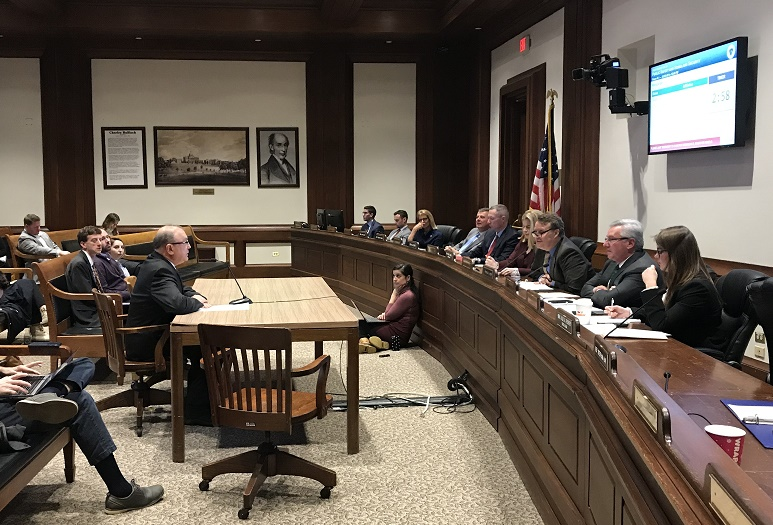 Scott Cameron, PLS, testifies in support of S.1392, An Act Relative to Public Safety in Excavation before Mass. Legislature's Joint Committee on Public Safety and Homeland Security